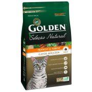 Ração Golden Seleção Natural Gatos Adultos sabor Frango & Arroz 1kg