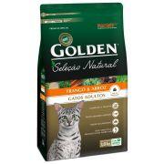 Ração Golden Seleção Natural Gatos Adultos sabor Frango & Arroz 3kg