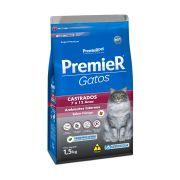 Ração Premier Ambientes Internos Gatos Adultos Castrados de 7 a 12 Anos Sabor Frango 1,5kg