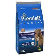 Ração Premier Cães Adultos de Raças Grandes Sabor Frango 20kg