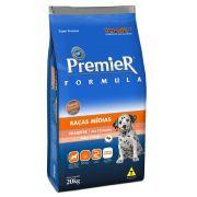 Ração Premier Cães Formula Raças Médias Filhotes Sabor Frango 20kg