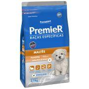 Ração Premier Cães Raças específicas Maltês Filhotes Sabor Peru & Arroz 2,5kg