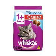 Ração Whiskas Gatos Castrados Sabor Carne 10,1kg