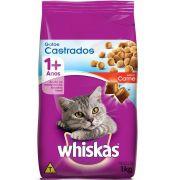 Ração Whiskas Gatos Castrados Sabor Carne 1kg