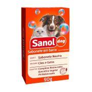 Sabonete Sanol Dog Neutro para Cães e Gatos 90g