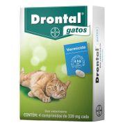 Vermifugo Drontal Para Gatos 4 Comprimidos