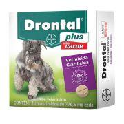 Vermífugo Drontal Plus Bayer Carne Cães 10kg - 2 Comprimidos