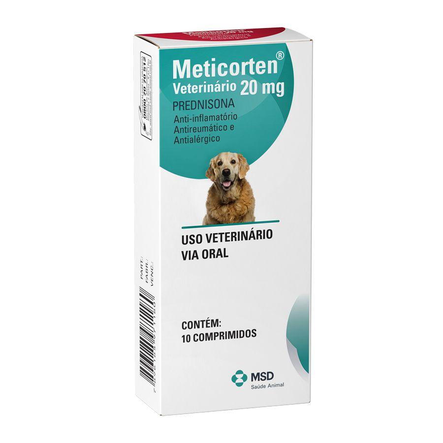 Anti Inflamatório Meticorten para Cães 20mg