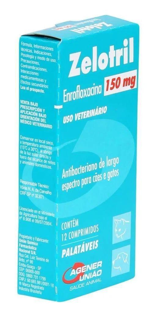 Antibacteriano Zelotril Agener 150 mg - Com 12 Comprimidos