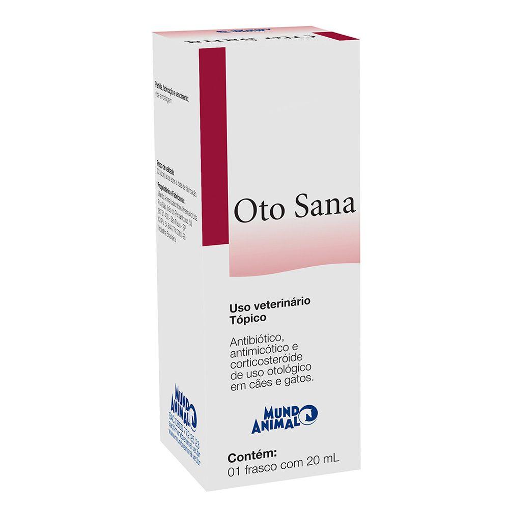 Antibiotico Oto Sana 20ml - Tratamento de Otites