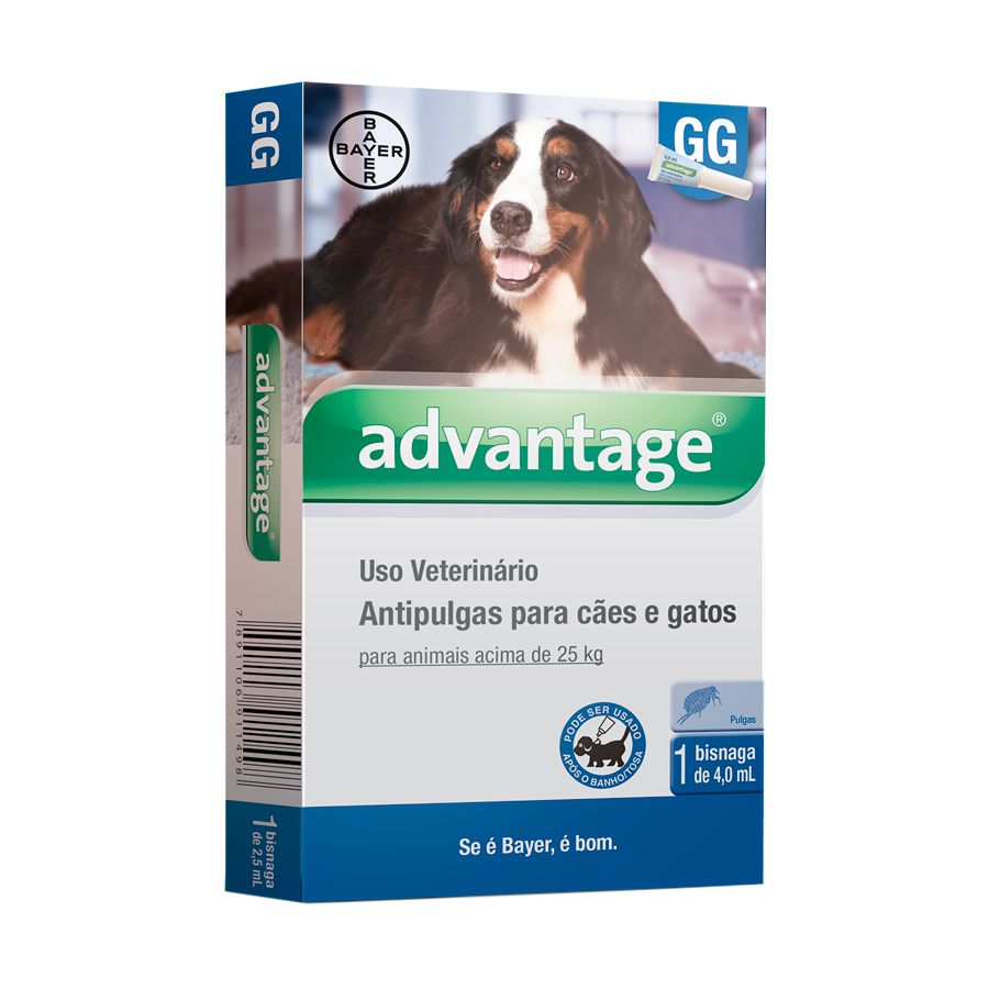 Antipulgas Advantage para Cães Acima de 25kg - 4ml GG