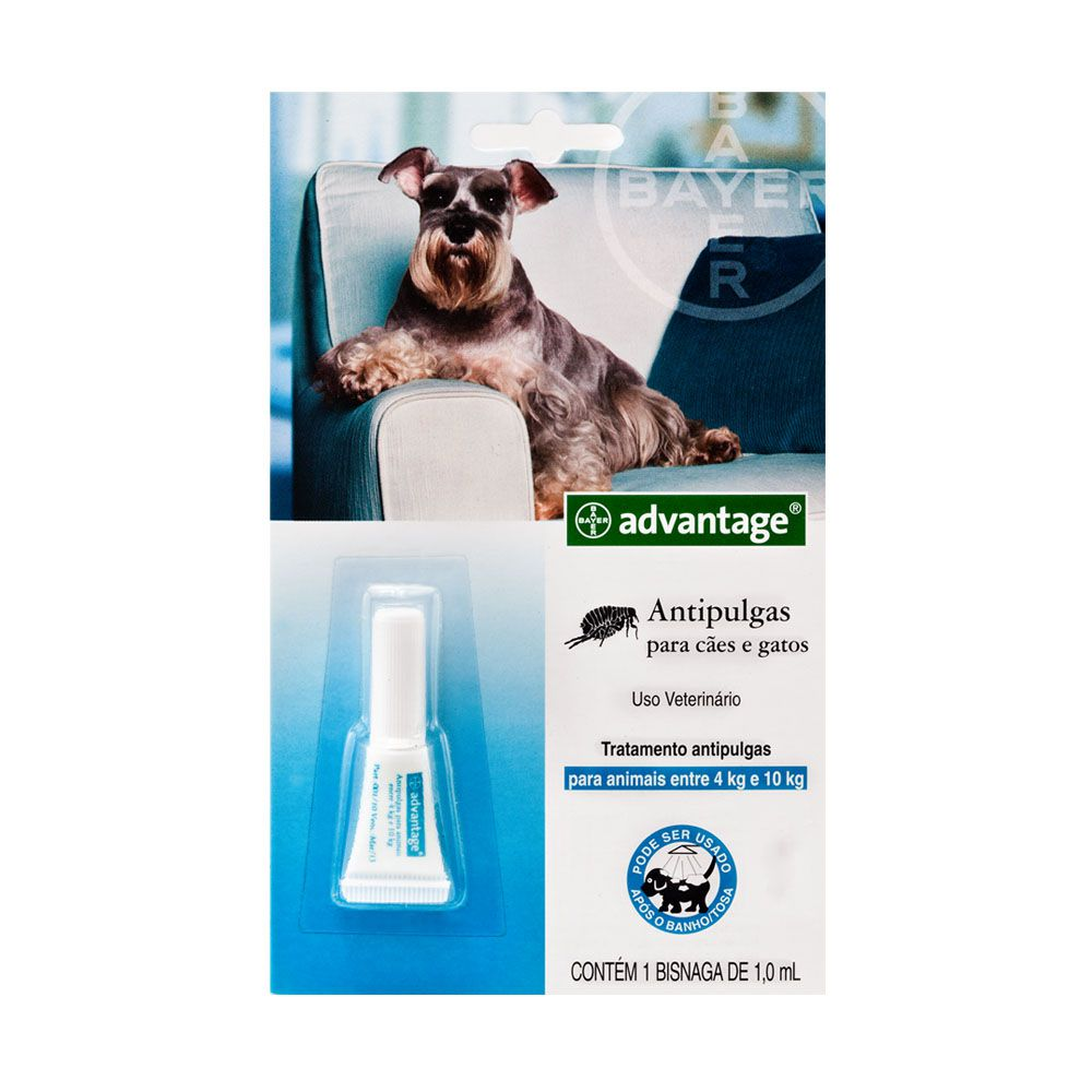 Antipulgas Advantage para Cães de 4 a 10 kg - 1ml