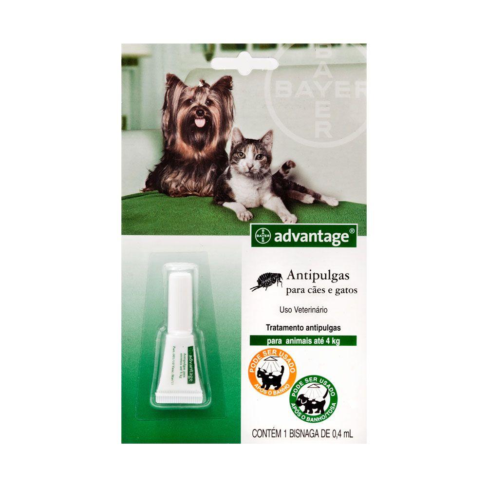 Antipulgas Advantage para Cães e Gatos de até 4 kg - 0,4 ml