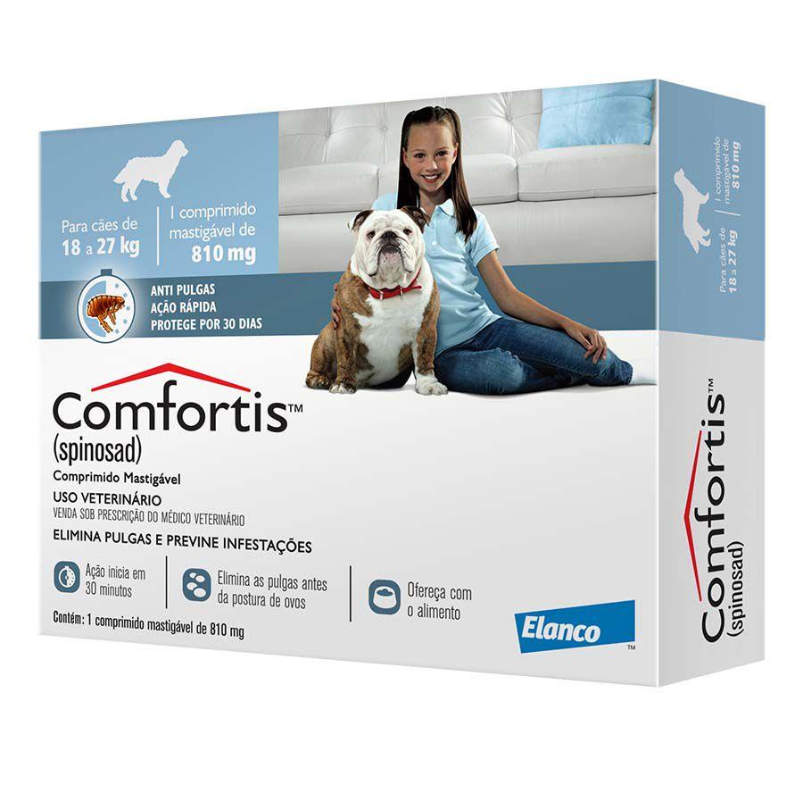 Antipulgas Comfortis 810 mg  Para Caes De 18 A 27 kg