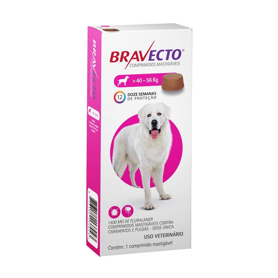 Bravecto MSD Antipulgas e Carrapatos para Cães de 40 A 56 kg
