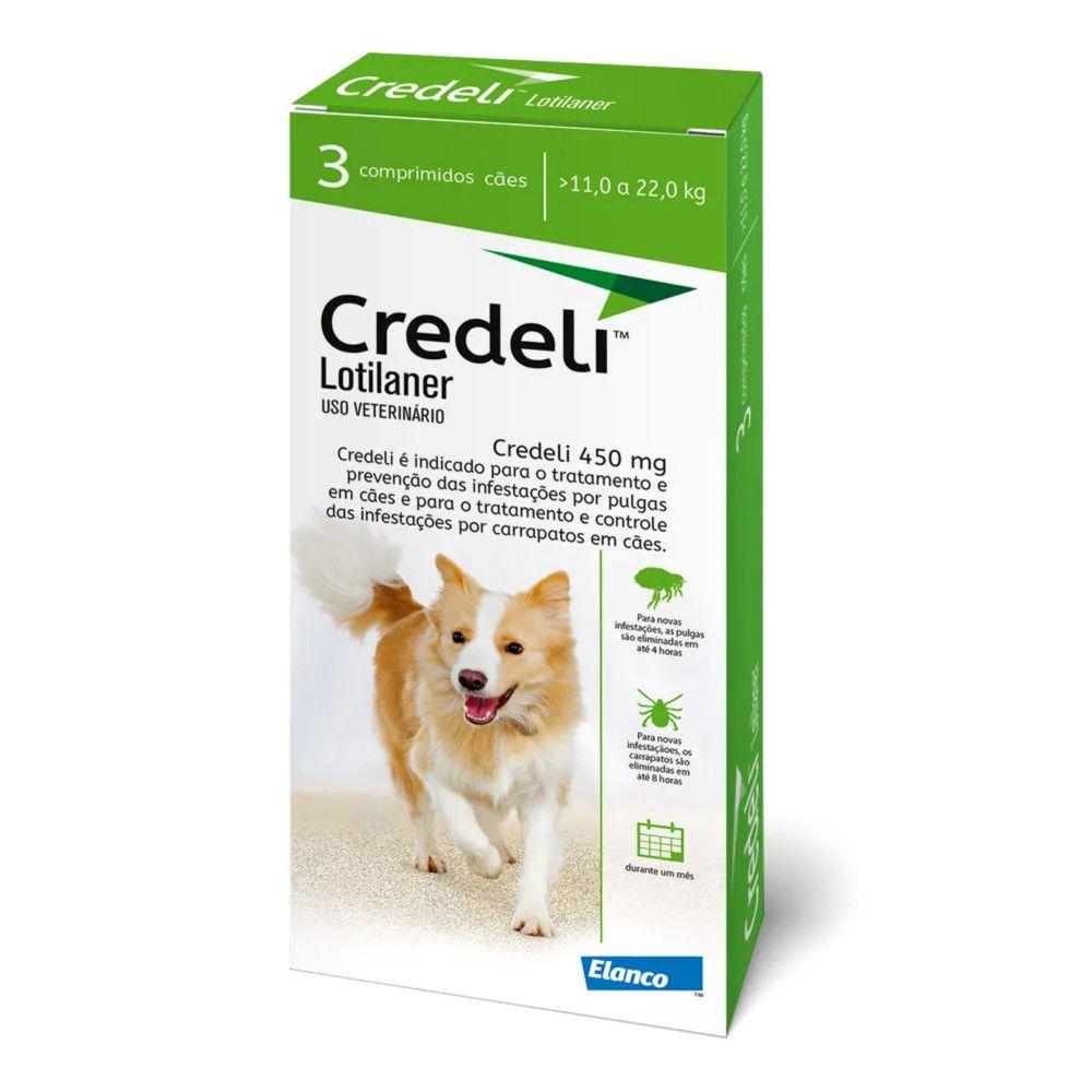 Antipulgas E Carrapatos Credeli para Cães 11 A 22kg - 3 Comprimidos