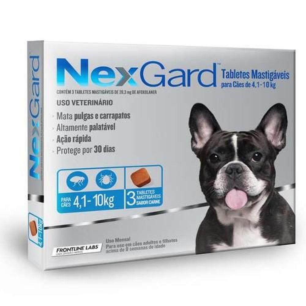 Antipulgas e Carrapatos Nexgard para Cães de 4 A 10kg - 3 Comprimidos