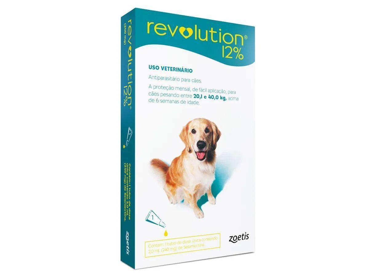 Antipulgas e Carrapatos Zoetis Revolution 12% Para Cães de 20 a 40 kg