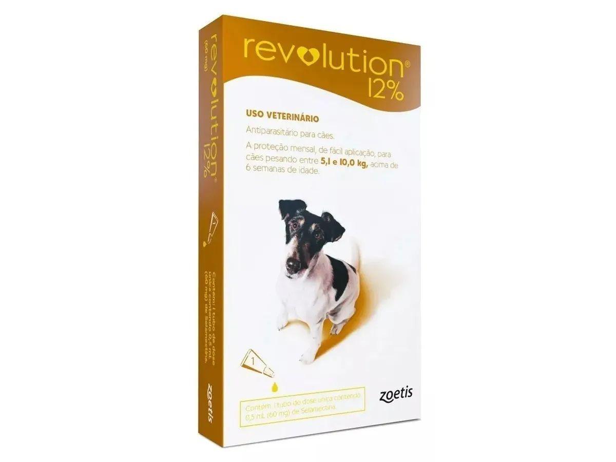 Antipulgas e Carrapatos Zoetis Revolution 12% Para Cães de 5 a 10 kg
