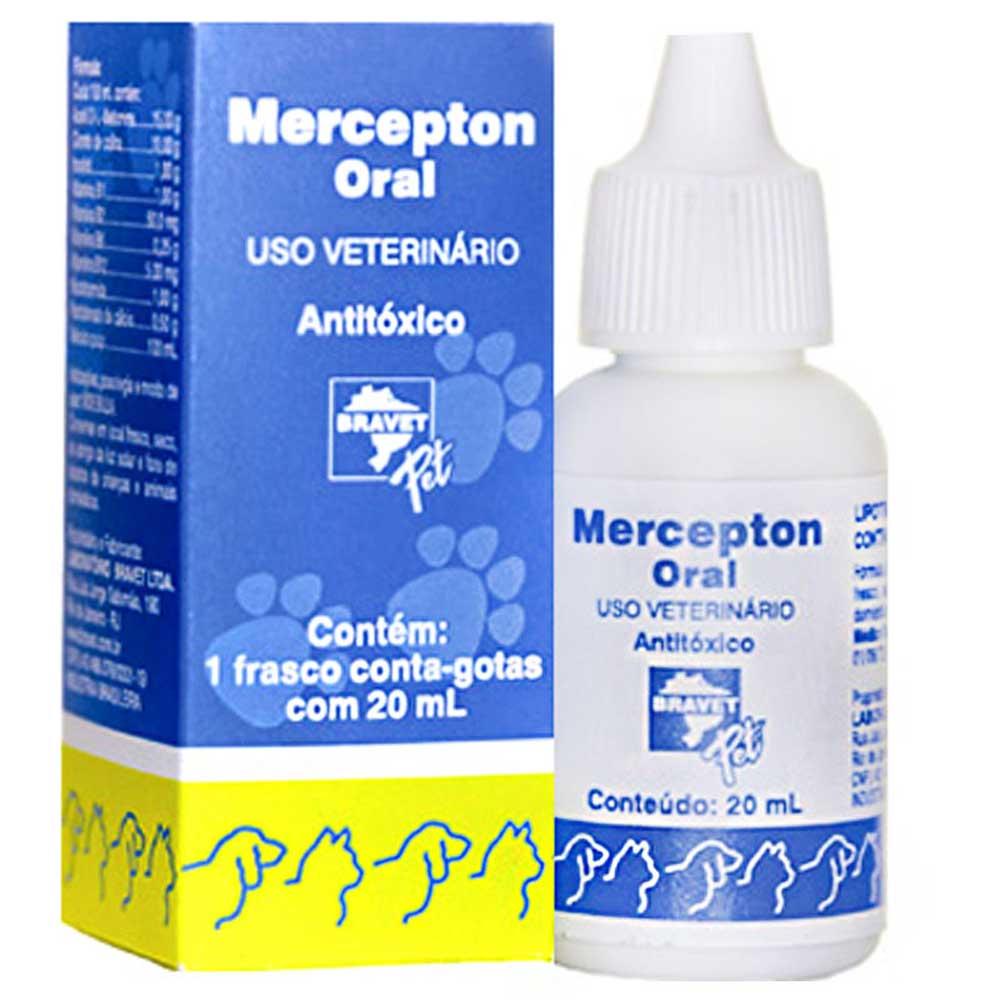 Antitóxico Oral para Caes e Gatos Mercepton Bravet Pet 20ml