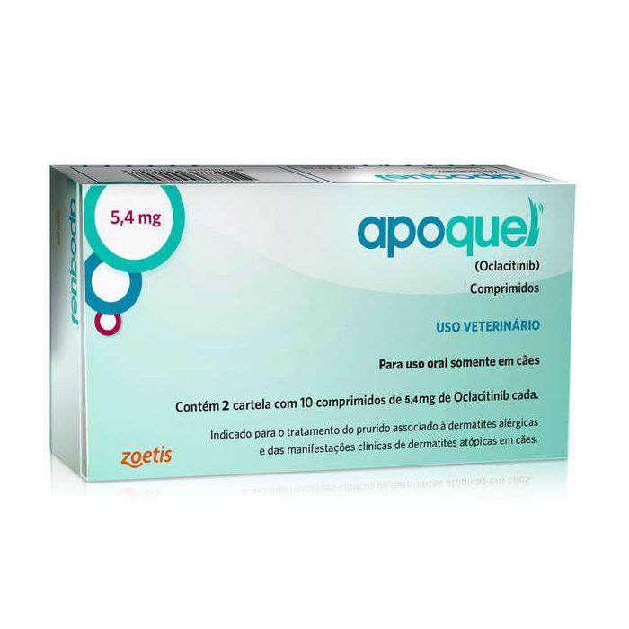 Apoquel 5,4 mg Dermatológico Anti Coceira Cães
