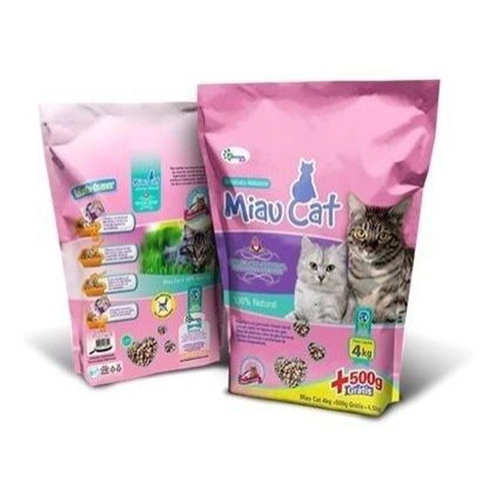 Areia Higiênica Granulada Miau Cat - 4 kg + 500g