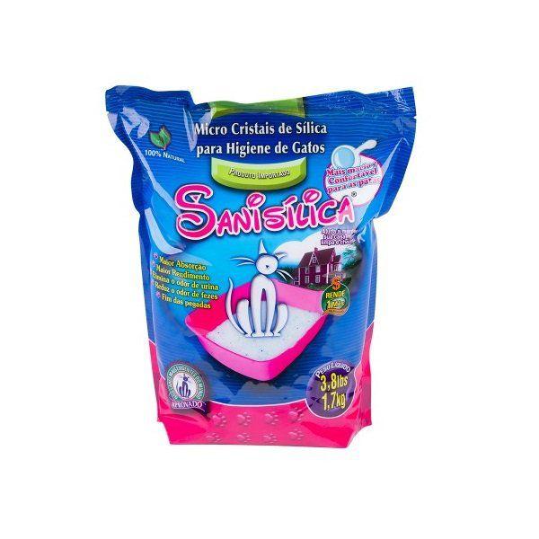 Areia Higiênica Micro Cristais de Sílica Sanisilica para Gatos 1,7kg