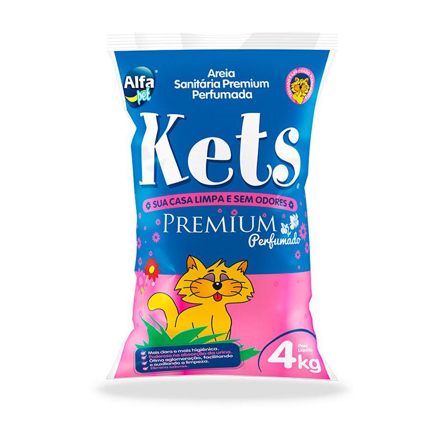 Areia Premium Floral Kets Para Gatos 4 kg