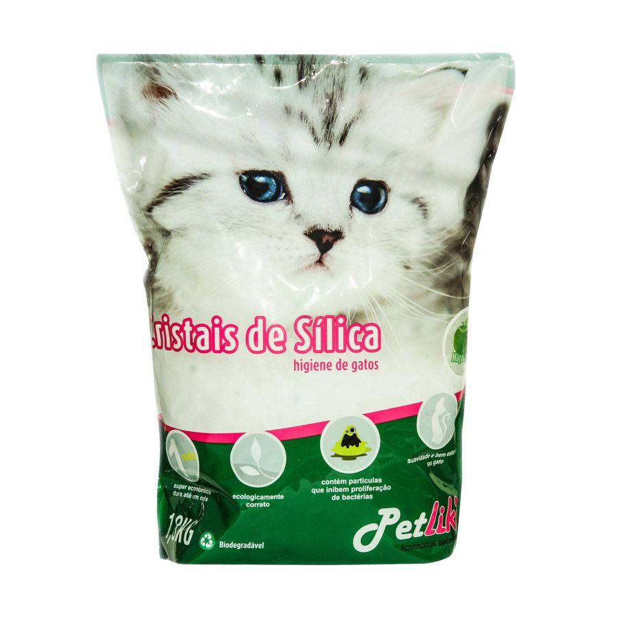 Areia Sílica Granulado Aroma Natural Petlike para Gatos 1,6 kg
