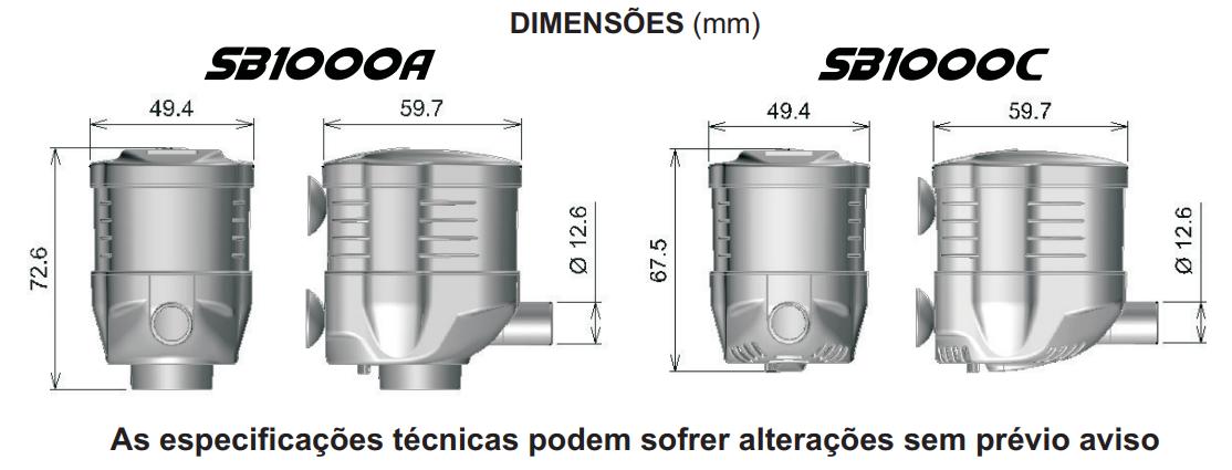 Bomba Submersa Sarlo Better SB 1000c 1000 l/h 220v