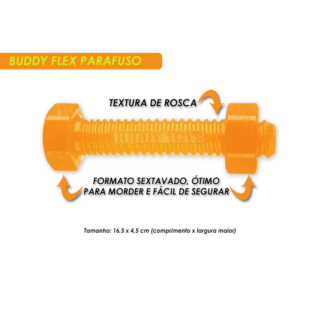 Brinquedo Buddy Toys Para Cachorro Mordedor Parafuso Flex