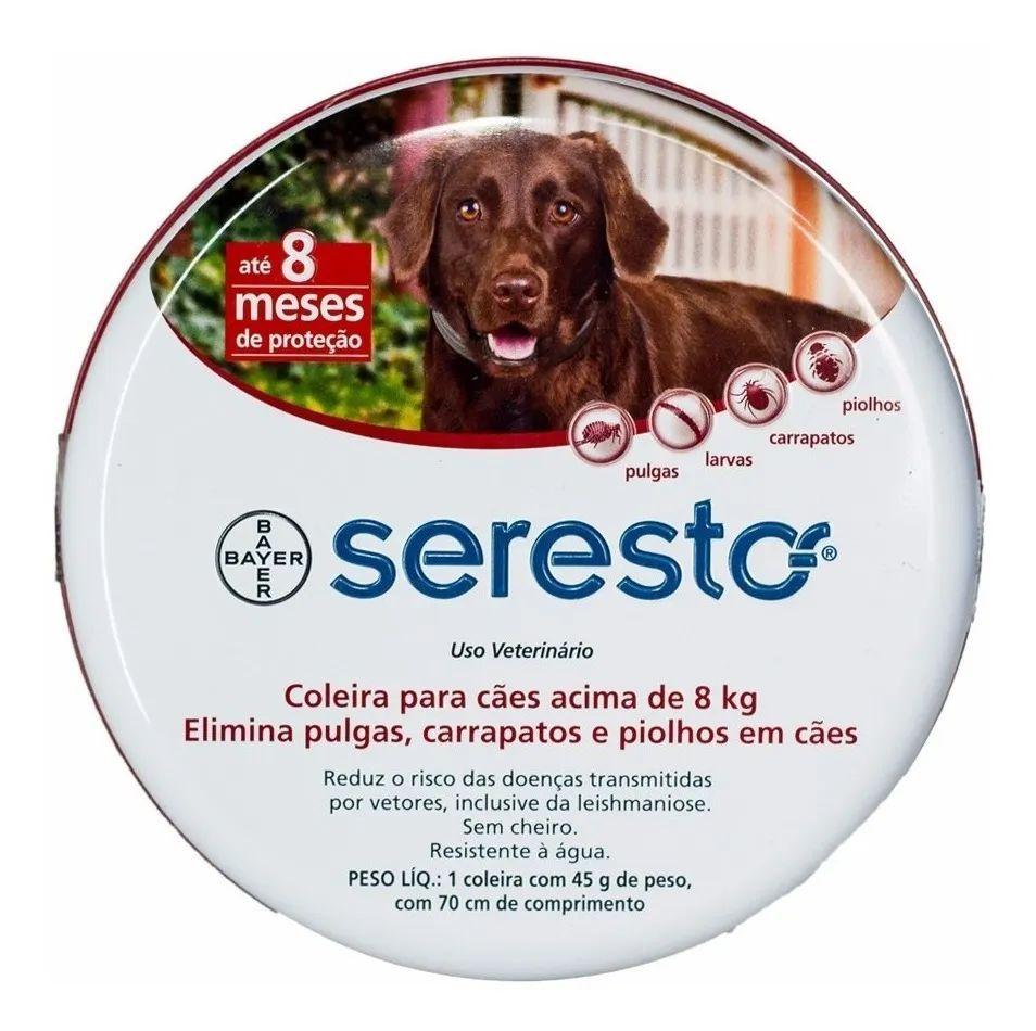 Coleira Antipulgas E Carrapatos Bayer Seresto G Para Cães Acima De 8 kg