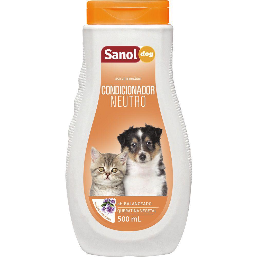 Condicionador Sanol Dog Neutro Para Cães E Gatos 500 ml