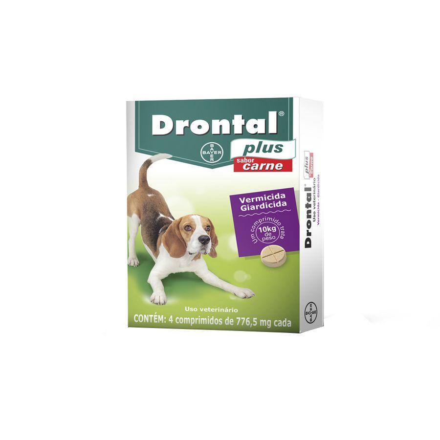Drontal Plus Sabor Carne 10 kg - 4 Comprimidos