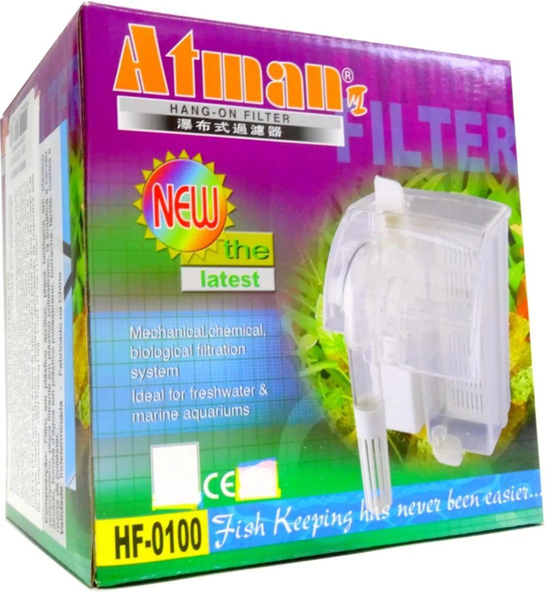 Filtro externo para Aquario Atman Hf - 0100 160 L/h 110v