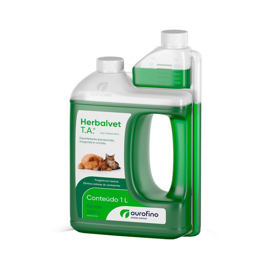 Herbalvet Higienizador e Desinfetante de Ambientes Ouro Fino 1l