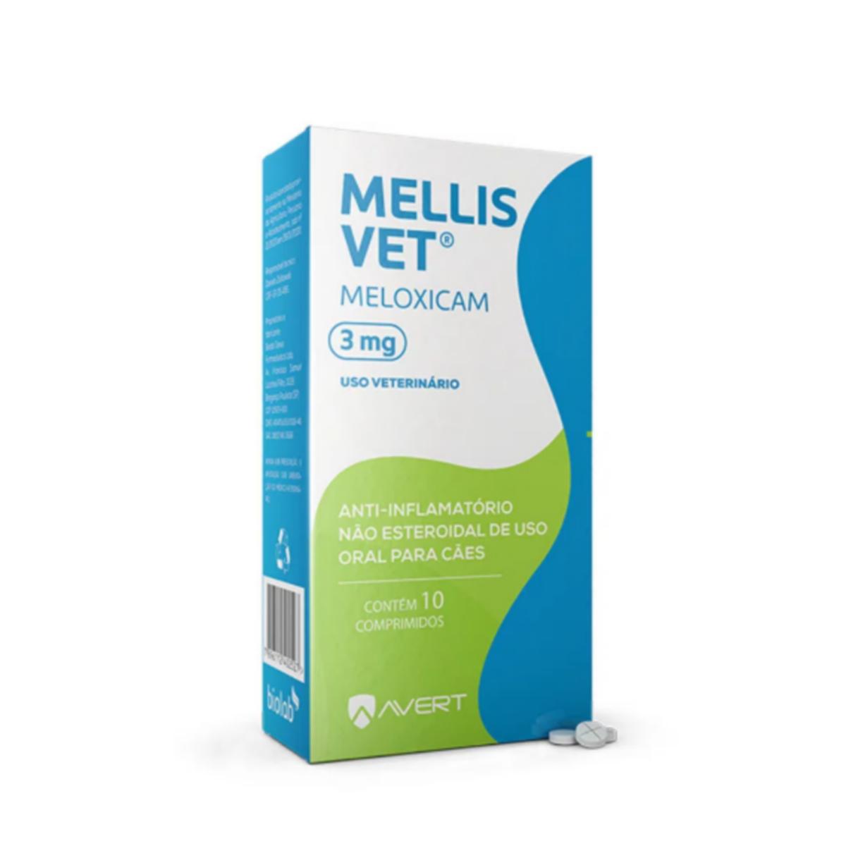 MELLIS VET 3MG 10 COMP