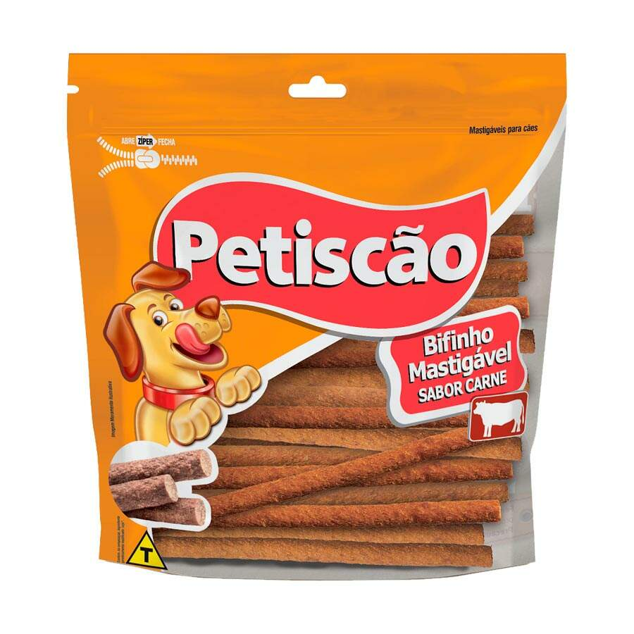PETISCAO BIFINHO MASTIGAVEL CARNE PALITO 250GR