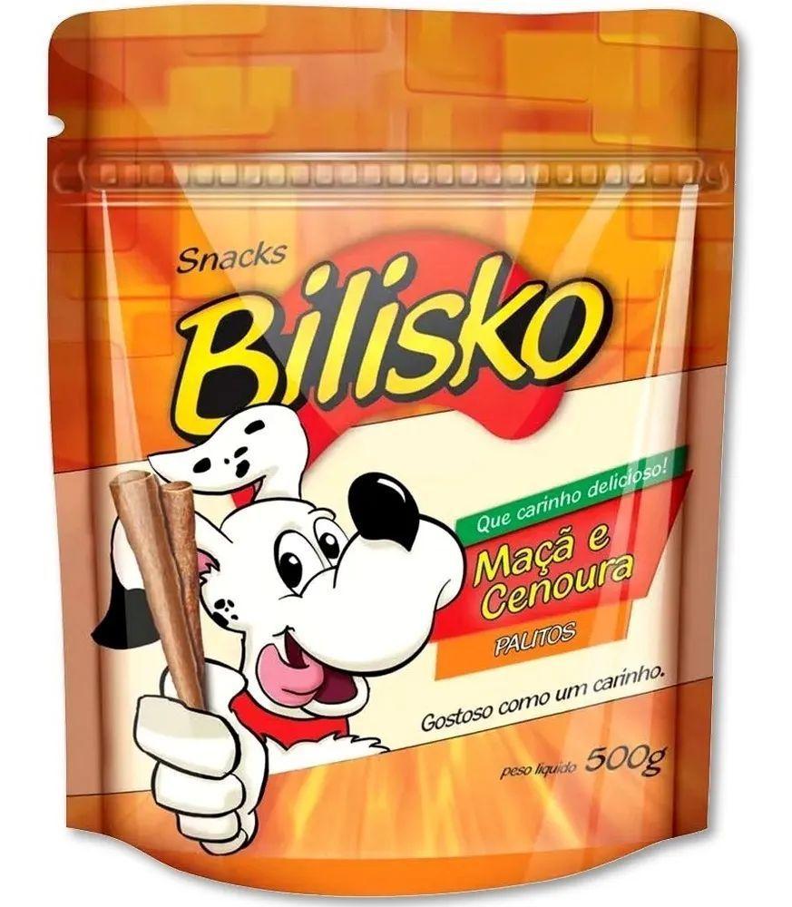 Petisco Bilisko Palitos Maçã E Cenoura Para Cães - 500 g