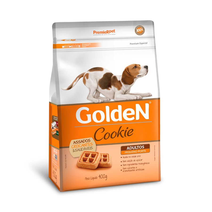 Petisco Golden Cookie Cães Adultos Mini Bits 400g