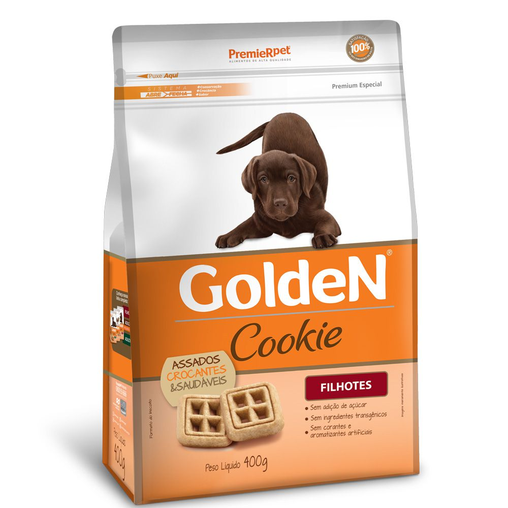 Petisco Golden Cookie Cães Filhotes 400g