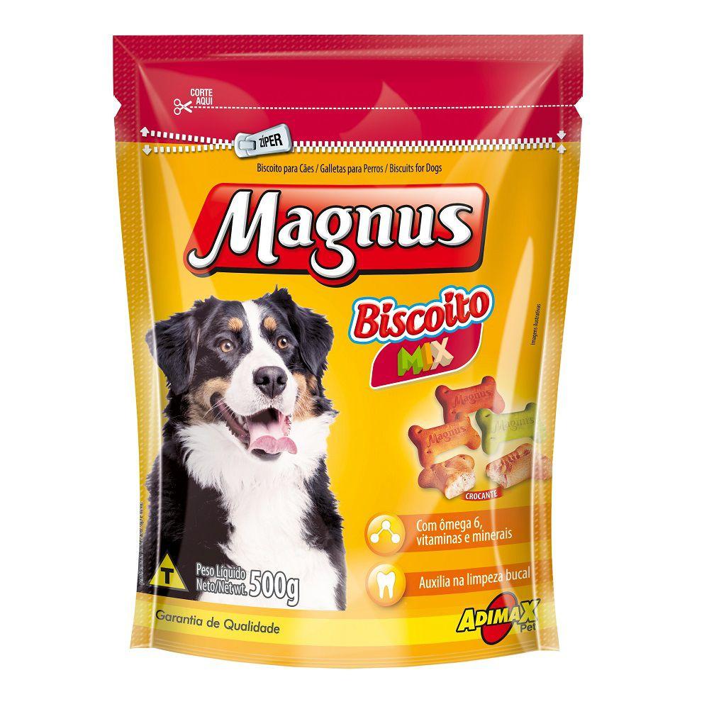 Petisco Magnus Biscoito Mix para Cães Adultos 500g