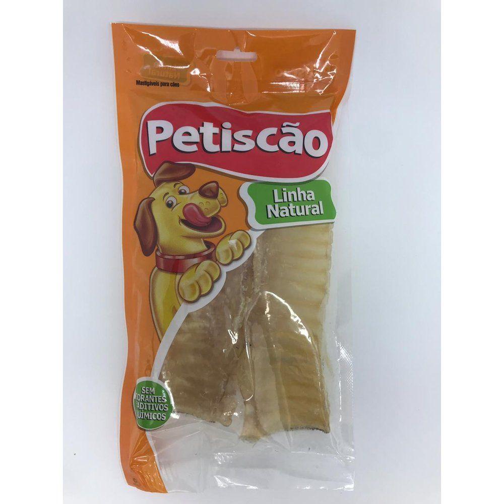 Petisco Petiscão para Cães Dried Traqueia Bovina 3 unidades