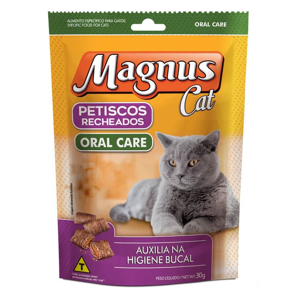 Petiscos Magnus Cat Recheados Oral Care - 30g