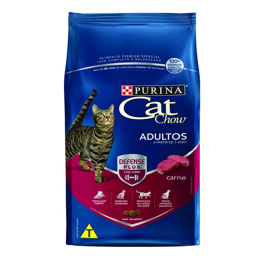 Ração Cat Chow Nestlé Sabor Carne Para Gatos Adultos 10kg