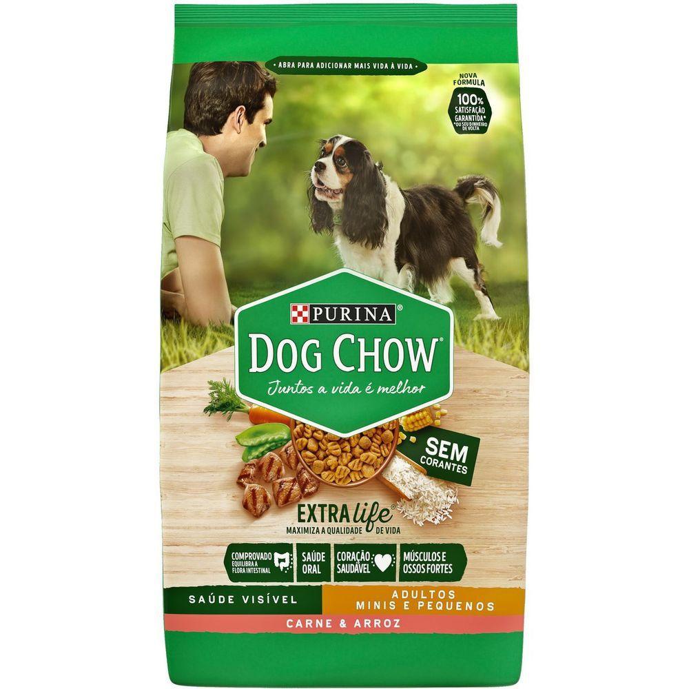 Ração Dog Chow Para Cães De Raças Pequenas Carne E Arroz 3kg