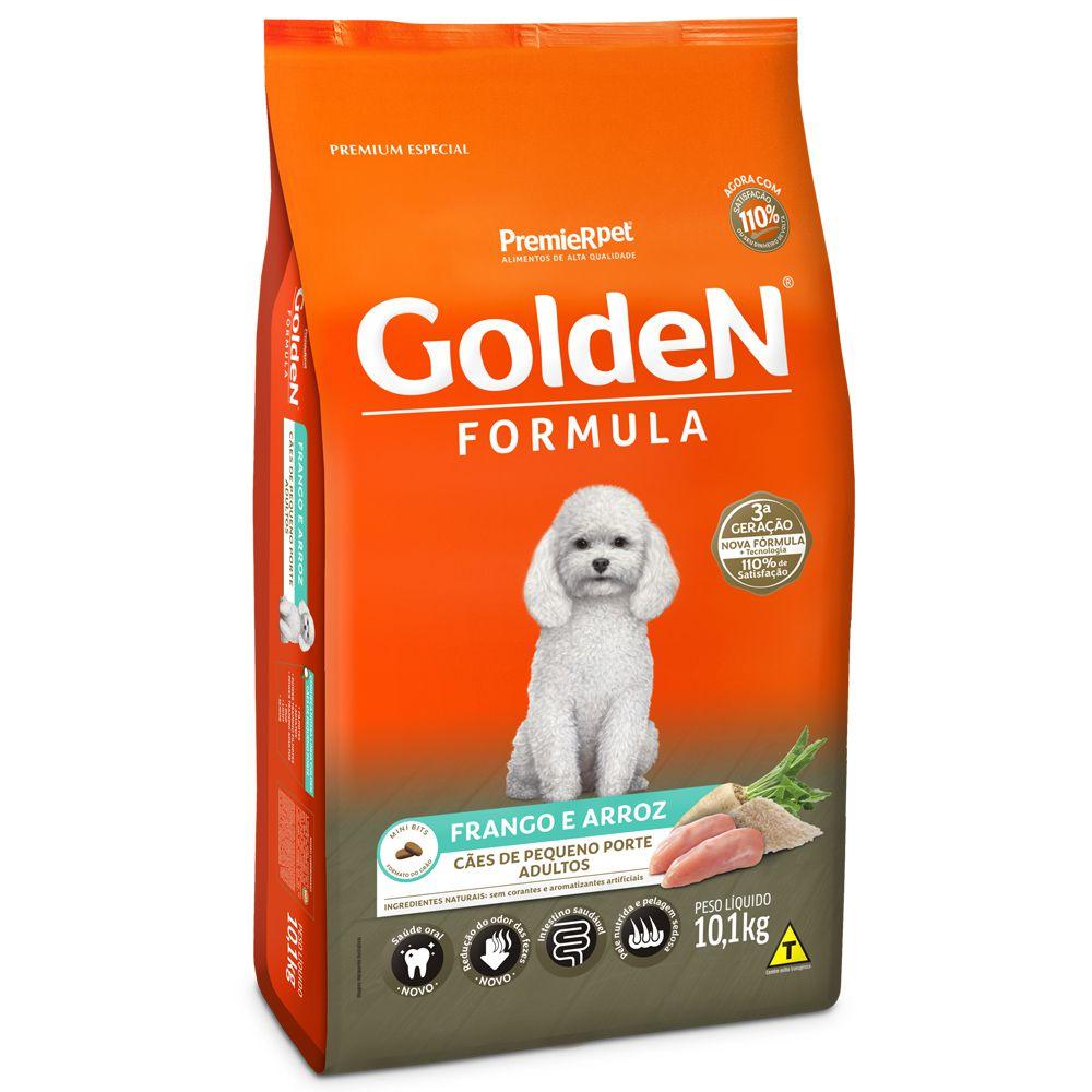 Ração Golden Cães Adultos Frango Arroz Mini Bits 10kg