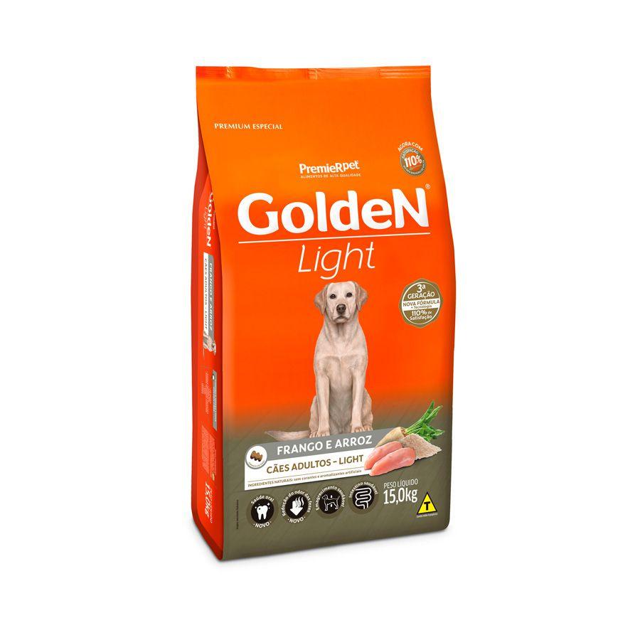 Ração Golden Formula Cães Adultos Light Frango e Arroz 15 Kg