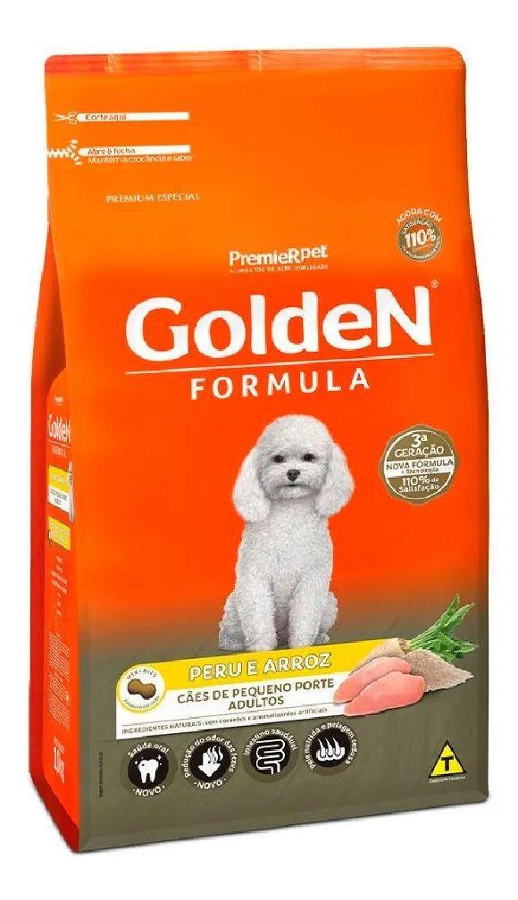 Ração Golden Formula Cães Adultos sabor Peru & Arroz Mini Bits 1kg
