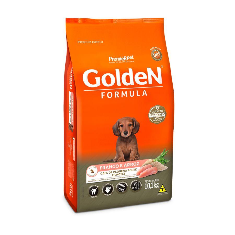 Ração Golden Formula Cães Filhotes Mini Bits Frango & Arroz 10kg